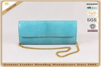 N663-B1616 elegant Snake party clutch wholesale fashion wallet lady genuine leather purse metal chain shoulder bag alibaba cheap