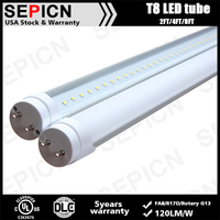 8 tube sex 1200mm DLC Certification Tube LED T8 347vac UL for US Canada Market