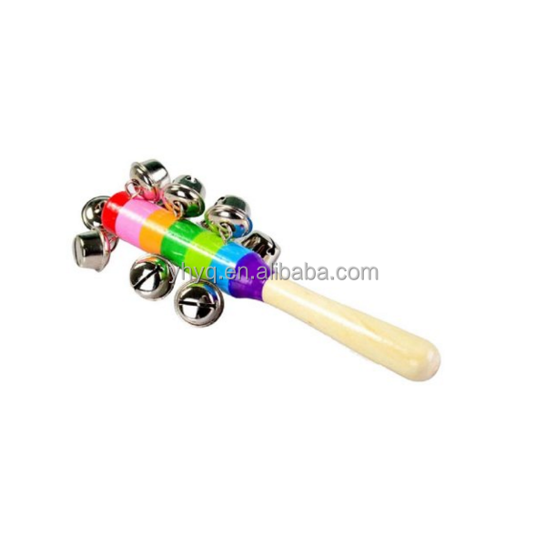 Baby Toys Gift Baby Rattles Colorful wooden bell Orff instruments