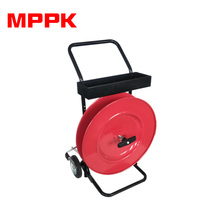 Hand Cart Band Trolley Strapping Tool Reinforced Red Two-wheel PET Strap Dispenser