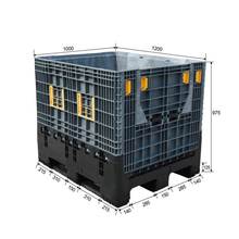Collapsible shipping pallet stirage boxes for sale/cheap plastic container