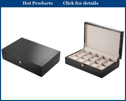 Glossy watch box wood,lacquer painting wooden watch box,black watch box wood with logo