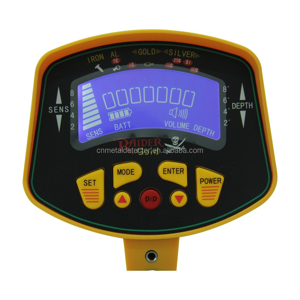 MD-3010II LCD display underground search gold and sliver Metal Detector with High Discrimination