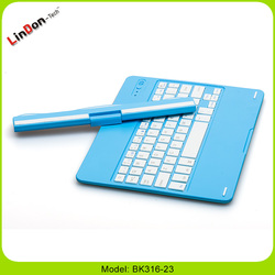 High quality swivel ABS bluetooth wireless keyboard case for ipad air 2/6