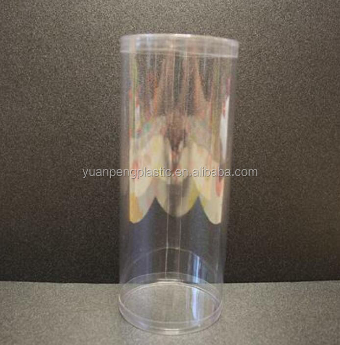 Custom clear plastic round box with caps,clear free sample for transparent plastic round tube box