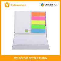 Wood free paper combine PET flag custom sticky notes for promotion
