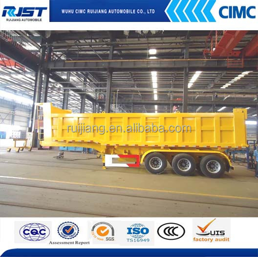 CIMC direct factory three axles tipper semi trailer