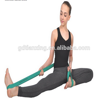 Light Weight High Quality 100% Nature Latex Yoga Resistance Ballet Stretch Exercise Loop Bands for dancing