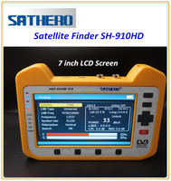 7 inch Satellite finder meter SH-910HD Sathero digital meter finder with real spectrum analyser , audio/radio, mpeg4
