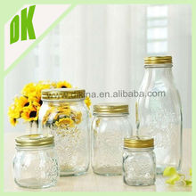Single wall plastic mason jar with handle 600ml // Colored Glass with handle and stand mason jar flower frog lids