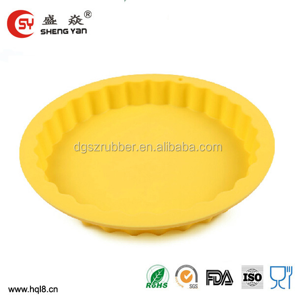 heat resistant silicone round pizza/bread/cake/muffin pans