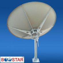 large parabolic c band 2.4m satellite tv dish antenna