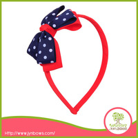 Red Wholesale Plastic Large Bow Headband