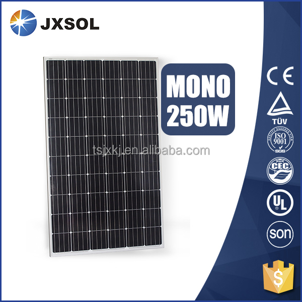 high efficiency pv module monocrystalline silicon 250w solar panel for home solar energy system