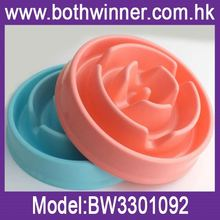 Fashion china supplier dog bowls slow feeder ,h0t4h plastic slow eating bowl for sale