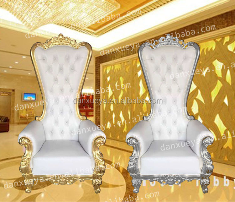 Danxueya- hot sale gold and silver throne king queen chairs for hotel
