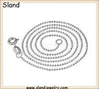overseas jewelry manufacturer direct outlet Solid 925 sterling silver beaded silver chain necklace jewellery