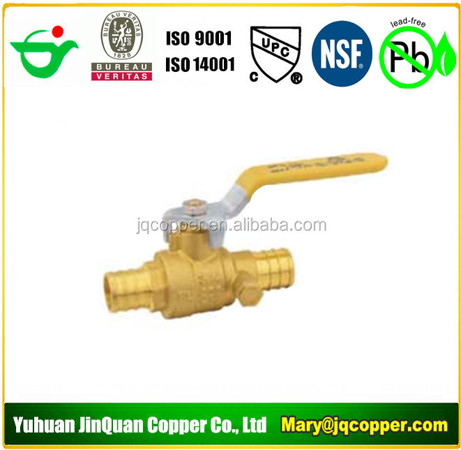 USA Standard Low Lead/Lead Free Brass Pex Ball Valve with drain