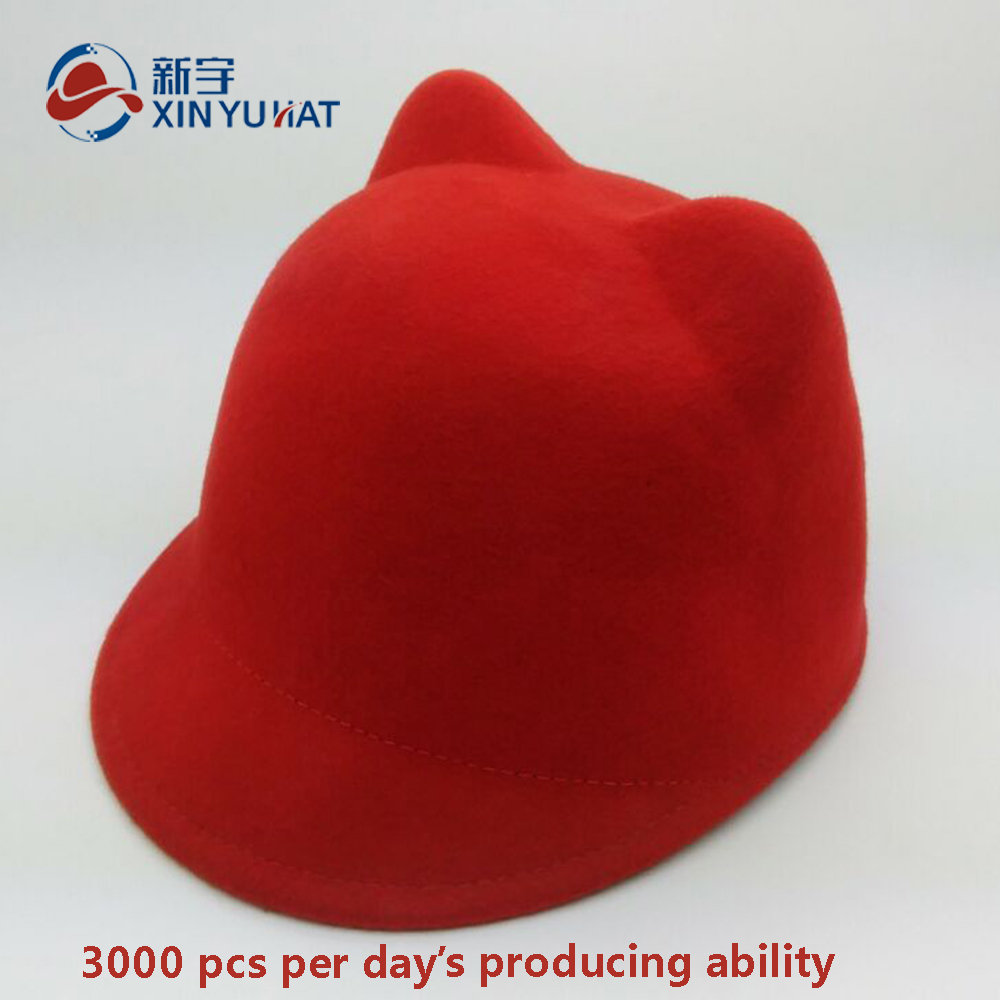 high quality lovely children wool felt horseman hat