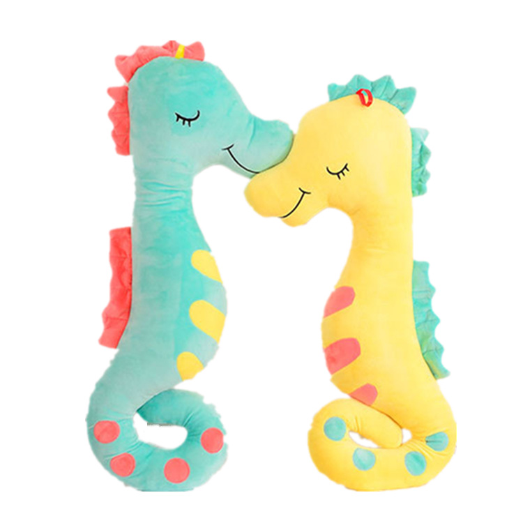 High Quality Safety Material Filling Animals Toys Cute Hippocampus Cushion Pillow Stuffed <strong>Plush</strong>