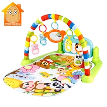3 in 1 Baby Gym Puzzles Mat Educational Rack Toys Baby Music Play Mat With Piano Keyboard Infant Fitness Carpet Gift For Kids