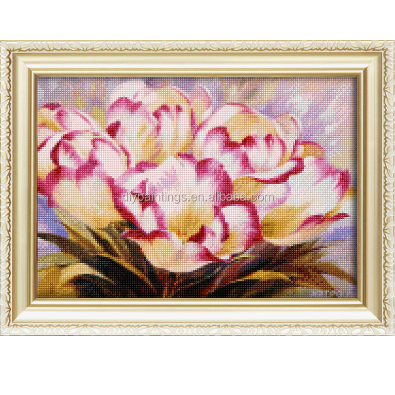 2016 hot sale mosaic flower picture diy 5d diamond painting