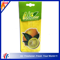 orange shape fruit smell car air freshener paper, hotel room scents air freshener, feu orange car air freshener