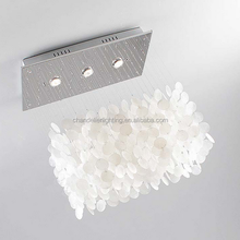 New design white shell led chandeliers with professional technology for sale