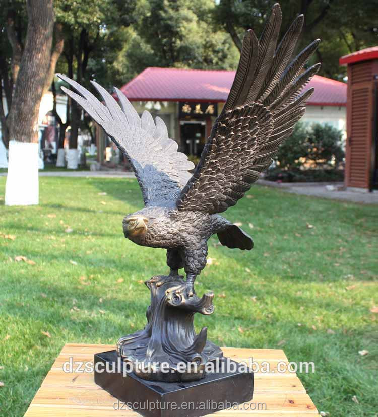 small indoor table decorative brass eagle bird sculpture