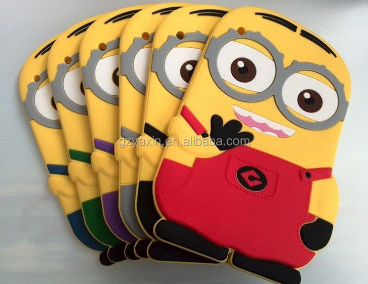 Silicone Cute Design Minion Despicable Me 2 Case for ipad Mini/ipad air