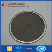 Hot selling wrapped edge filter disc metal foam filter