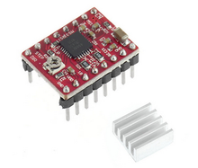 Mini Adhesive Aluminum Radiator Heatsink Cooler For 3D Printer A4988 Stepper Motor Driver