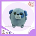 Blue big eyes dog,plush dog round toys