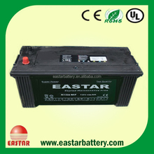 Manufacturing N150 Maintenance free car battery price 12v 150ah auto battery