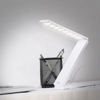 Home lighting led study tabel lamp/folding modern desk lamp with usb