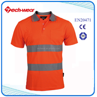 Cheap High Visibility Safety shirts Polo T Shirt Fabric