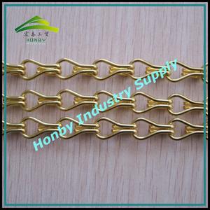 Gold Color Aluminum Double Hook Chain For Curtain