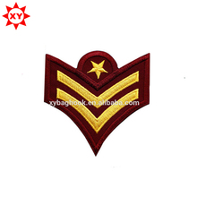 cheap custom school uniform embroidery badges with logo