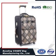 COQBV Hot Selling PU travel trolley bags& luggage case