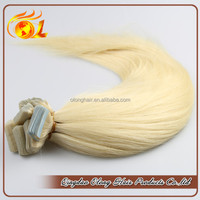 Light 613# Color Brazilian Virgin Hair Tape Hair Extension/Weft For African American Women