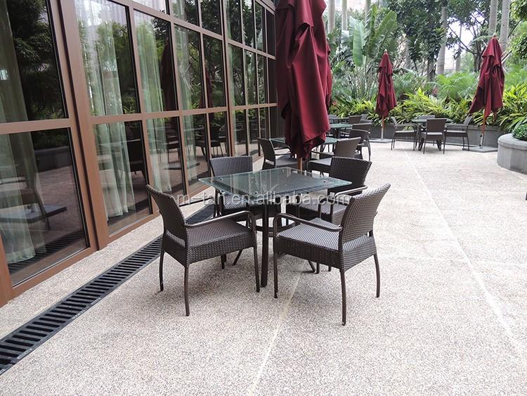 Sheraton 호텔 등나무 식탁 세트 파티오 방 이동 야외 가구-정원 ...