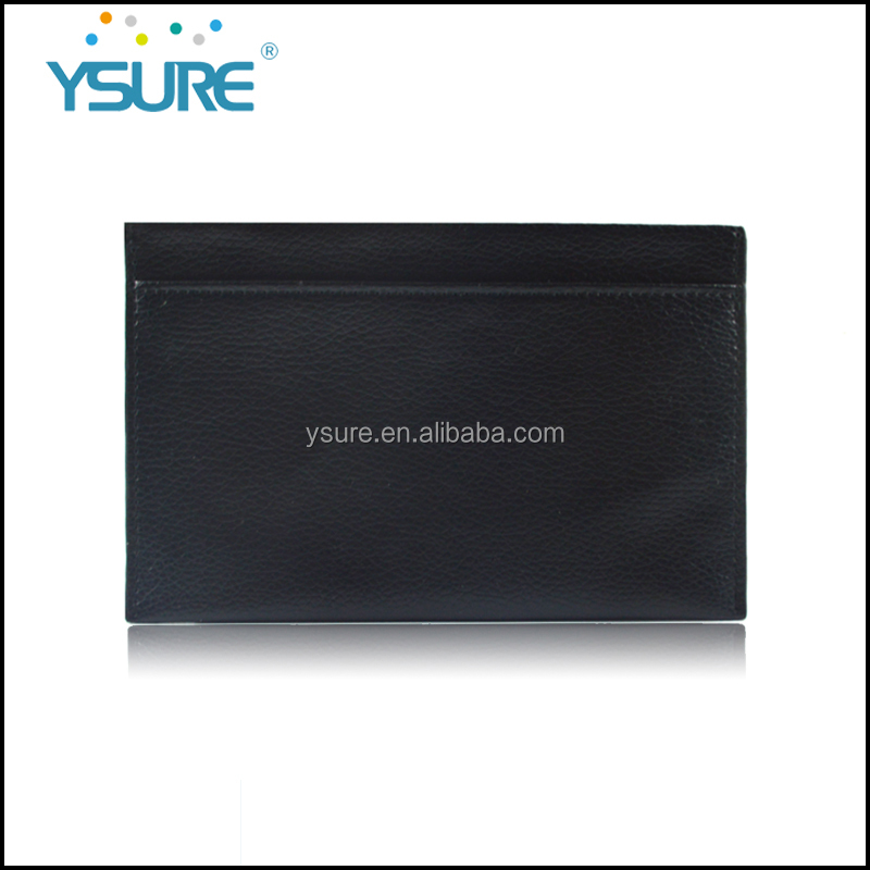 Hot sale Black PU leather one big crad slot and one big wallet holder for OEM card holder