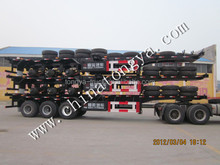 skeleton semi trailer to load 40ft ,20 ft container