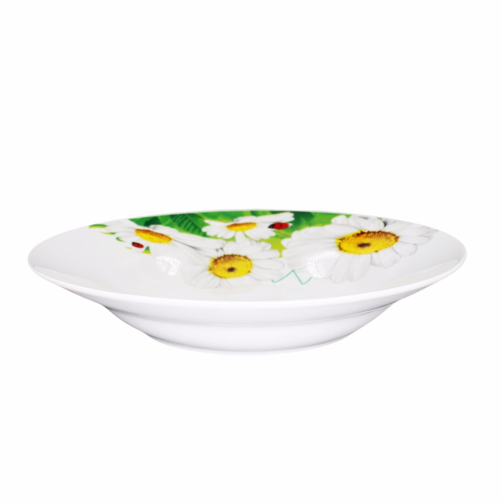 9inch round porcelain soup plate