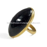 brass stone ring