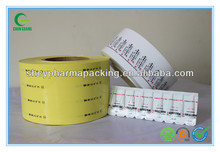 Suppository Pharmaceutical Packing PVC/PE Laminated Film
