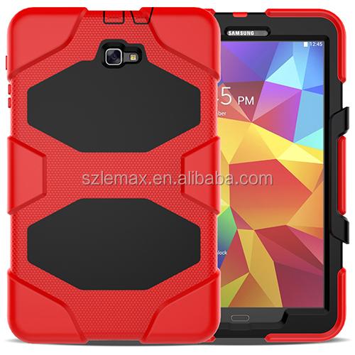 Rugged Kickstand Strong armor PC TPU Tablet Cover Case For Samsung Galaxy Tab A 10.1 2016 T580 T585 SM-T580 SM-T585 cases