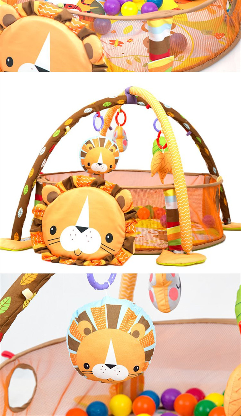 2019 Hot sell activity baby play gym mat baby mat lion for wholesale