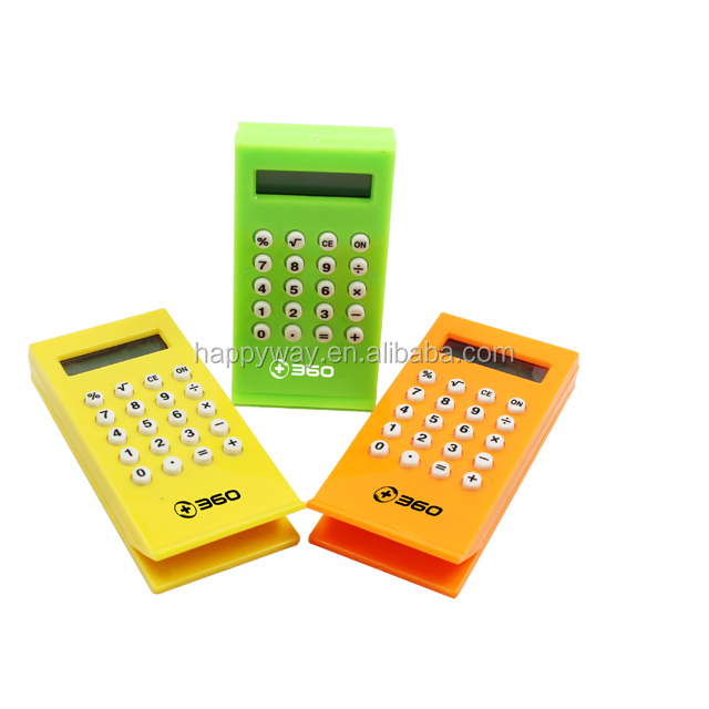 Hot Selling Book Clip Calculator, MOQ 100 PCS 0702036 One Year Quality Warranty
