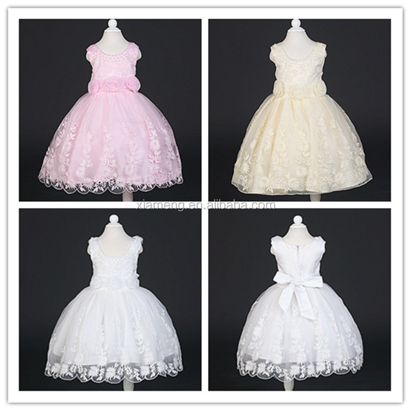 Alibaba factory price new design birthday/ party wear girls lace dress
